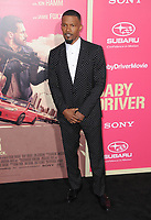 """14 June 2017 - Los Angeles, California - Jamie Foxx. Los Angeles Premiere of """"Baby Driver"""" held at the Ace Hotel Downtown in Los Angeles. Photo Credit: Birdie Thompson/AdMedia"""