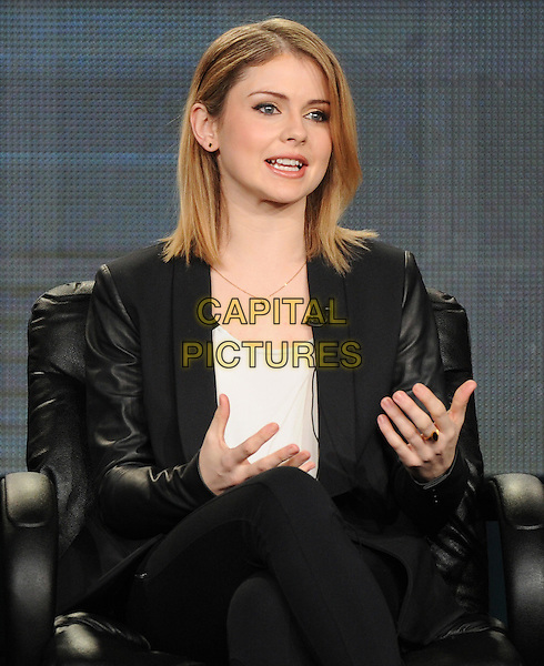 PASADENA, CA - JANUARY 11: Rose Melver attends the iZombie presentation at the CW 2015 Winter Television Critics Association (TCA) press tour at The Langham Huntington Hotel and Spa on January 11, 2015 in Pasadena, California. <br /> CAP/MPI/PGFM<br /> &copy;PGFM/MPI/Capital Pictures