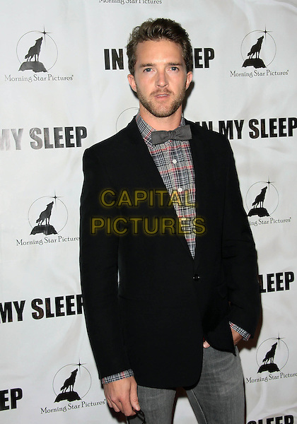 "TIM DRAXL .""In My Sleep"" - Los Angeles Premiere -Arrivals held at The ArcLight Cinemas, Hollywood, California, USA, .15th April 2010..half length black jacket bow tie grey gray plaid red shirt checked check beard facial hair .CAP/ADM/TC.©T. Conrad/AdMedia/Capital Pictures."
