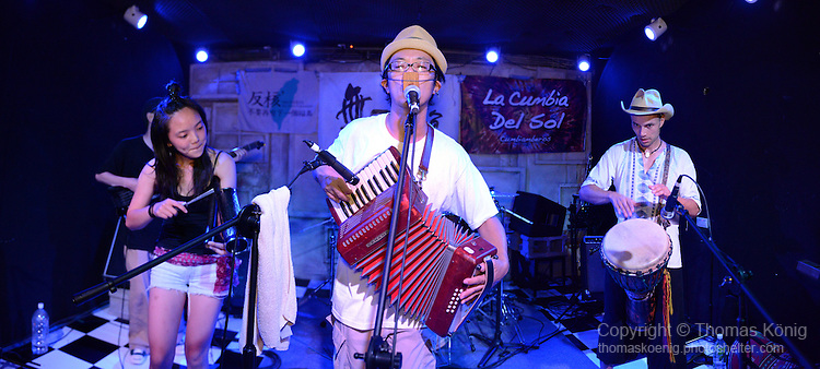 Kaohsiung, Taiwan -- LITTLE MASTA from Okinawa, Japan, performing at the Paramount Bar on July 06, 2014.