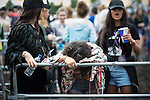 © Joel Goodman - 07973 332324 . . 12/06/2016 . Manchester , UK . Crowds in front of the main stage at the Parklife music festival at Heaton Park in Manchester . Photo credit : Joel Goodman