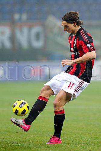 01.02.2011 Zlatan Ibrahimovic (Milan),  Football : Italian Serie A 2010-2011, match between  A.C. Milan (0-0) S.S. Lazio at San Siro Meazza Stadium, Milan, Italy,
