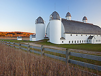 Sleeping Bear Dunes National Lakeshore, MI:  Late evening light on the fall hills and the historic D. H. Day Farm near Glen Haven
