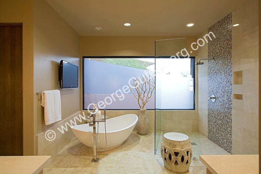 Stock photo of residential bathroom interior design stock for Luxury en suite bathroom designs