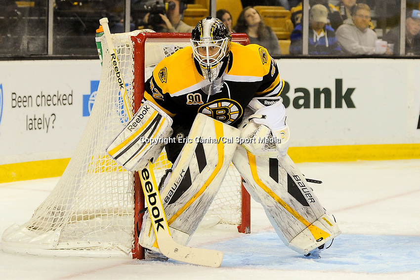 January 2, 2014 - Boston, Massachusetts, U.S. - Boston Bruins goalie Niklas Svedberg (72) in game action during the NHL game between Nashville Predators and the Boston Bruins held at TD Garden in Boston Massachusetts. Boston defeated Nashville 3-2 in overtime. Eric Canha/CSM
