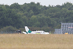 Pix: Shaun Flannery/shaunflanneryphotography.com...COPYRIGHT PICTURE>>SHAUN FLANNERY>01302-570814>>07778315553>>..25th July 2011..............An aircraft believed to be a Cessna 441 which was involved in an incident at Doncaster's Robin Hood Airport.