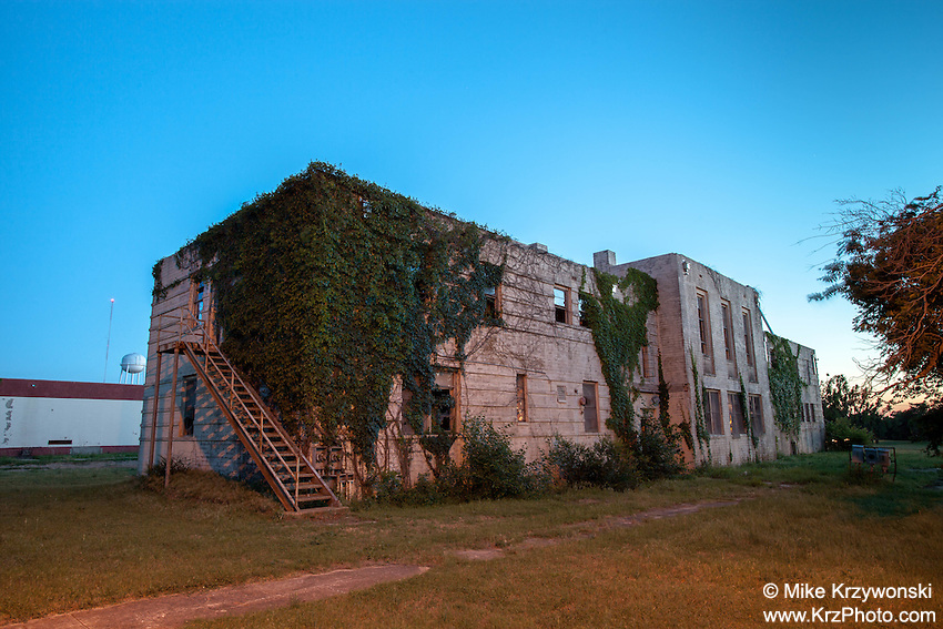 Abandoned Concho Indian Boarding School in Concho, OK
