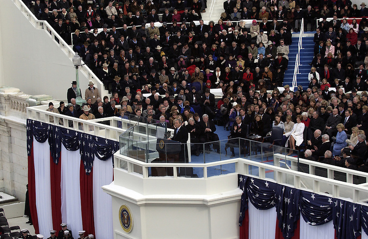 President George W. Bush was sworn into a second term at the 55th Presidential Inauguration.