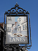 Sign of The Lanes in Brighton