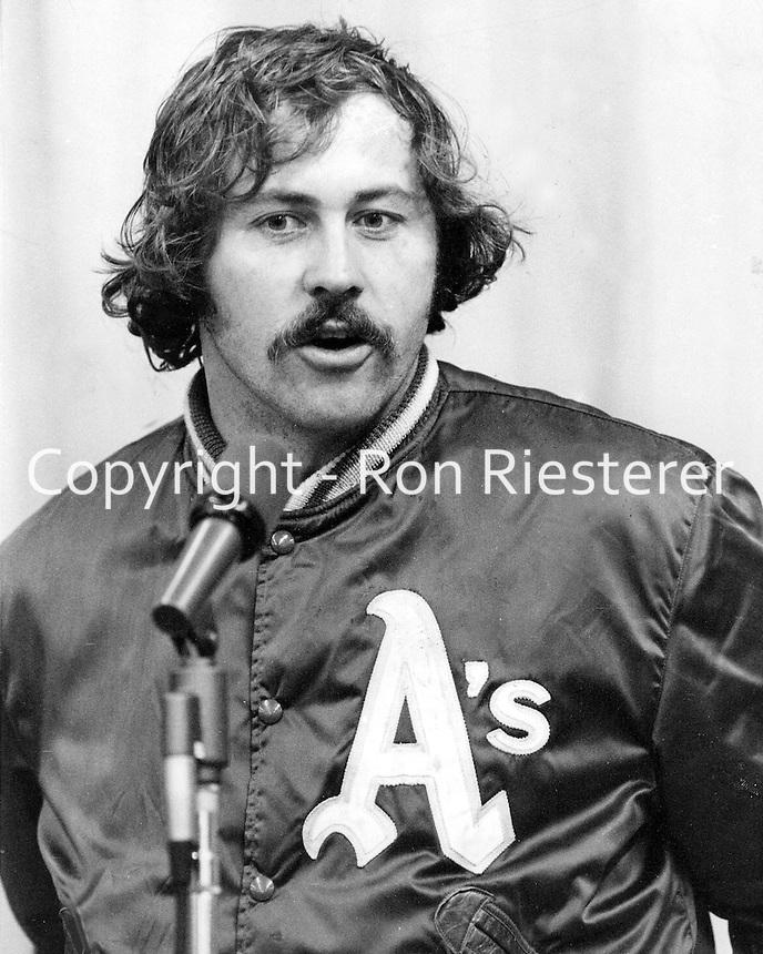 Oakland A's pitcher Jim &quot;Catfish&quot; Hunter.<br />(photo/Ron Riesterer)