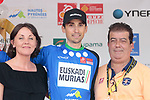 Oscar Rodriguez (ESP) Euskadi-Murias wins the Mountains Jersey classification at the end of Stage 4 of the Route d'Occitanie 2019, running 154.8km from Gers - Astarac Arros en Gascogne to Clermont-Pouyguillès, France. 23rd June 2019<br /> Picture: Colin Flockton | Cyclefile<br /> All photos usage must carry mandatory copyright credit (© Cyclefile | Colin Flockton)