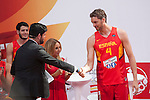 Pau Gasol during the official presentation of Spain´s basketball team for the 2014 Spain Basketball Championship in Madrid, Spain. July 24, 2014. (ALTERPHOTOS/Victor Blanco)