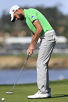 Troy Merritt (USA) putts on the 7th green during Sunday's Final Round of the 2018 AT&amp;T Pebble Beach Pro-Am, held on Pebble Beach Golf Course, Monterey,  California, USA. 11th February 2018.<br /> Picture: Eoin Clarke | Golffile<br /> <br /> <br /> All photos usage must carry mandatory copyright credit (&copy; Golffile | Eoin Clarke)