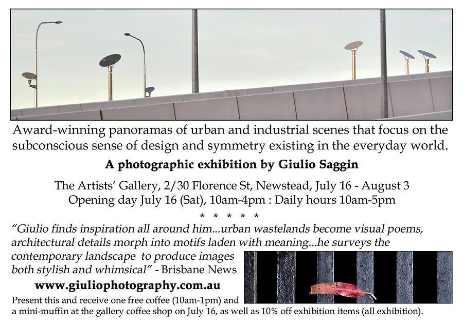 Invitation to Artists' Gallery exhibition at Newstead, Brisbane.