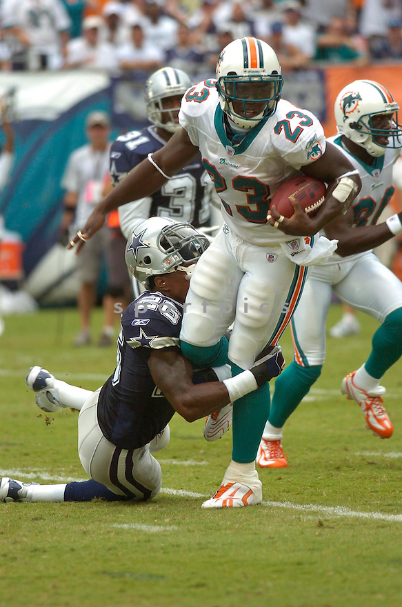 RONNIE BROWN, of the  Miami Dolphins , during the Dolphins game against the Dallas Cowboys on September 16, 2007.  The Dallas Cowboys beat the Miami Dolphins 37-10....