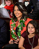United States Representative Tulsi Gabbard (Democrat of Hawaii) in her seat as the 116th Congress convenes for its opening session in the US House Chamber of the US Capitol in Washington, DC on Thursday, January 3, 2019.<br /> Credit: Ron Sachs / CNP<br /> (RESTRICTION: NO New York or New Jersey Newspapers or newspapers within a 75 mile radius of New York City)