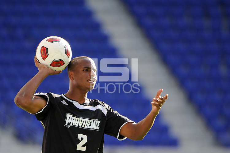 David Datilus (2) of the Providence Friars. The Louisville Cardinals defeated the Providence Friars 3-2 in penalty kicks after playing to a 1-1 tie during the finals of the Big East Men's Soccer Championship at Red Bull Arena in Harrison, NJ, on November 14, 2010.