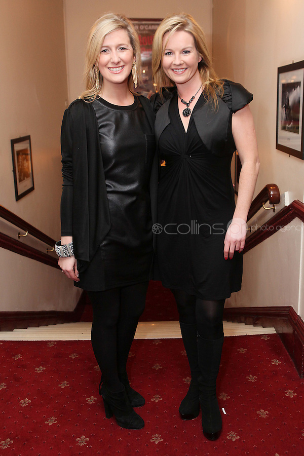 "NO REPRO FEE. 17/1/2010. The Field opening night. Ciara Doherty and Clare Byrneare pictured at the Olympia Theatre for the opening night of John B Keanes 'The Field"" Picture James Horan/Collins"