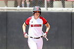 RALEIGH, NC - MAY 07: NC State's Molly Hutchison. The North Carolina State University Wolfpack hosted the University of Louisville Cardinals on May 7, 2017, at Dail Softball Stadium in Raleigh, NC in a Division I College Softball game. Louisville won the game 7-0.