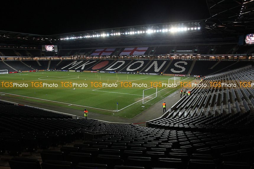 General view of the ground ahead of kick-off - England Women vs USA Women - International Football Friendly Match at Stadium MK, Milton Keynes Dons FC - 13/02/15 - MANDATORY CREDIT: Gavin Ellis/TGSPHOTO - Self billing applies where appropriate - contact@tgsphoto.co.uk - NO UNPAID USE