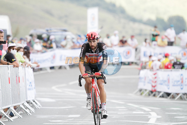 Thomas De Gendt (BEL) Lotto-Soudal summits the Col de Peyresourde during Stage 8 of Tour de France 2020, running 141km from Cazeres-sur-Garonne to Loudenvielle, France. 5th September 2020. <br /> Picture: Colin Flockton | Cyclefile<br /> All photos usage must carry mandatory copyright credit (© Cyclefile | Colin Flockton)