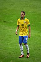 BRASILIA, DF, 07.09.2013 - 07.09.2013 - BRASIL X AUSTRÁLIA/AMISTOSO: Neymar durante partida amistosa entre Brasil x Austrália, no Estádio Nacional Mané Garrincha.(Foto: Ricardo Botelho / Brazil Photo Press).