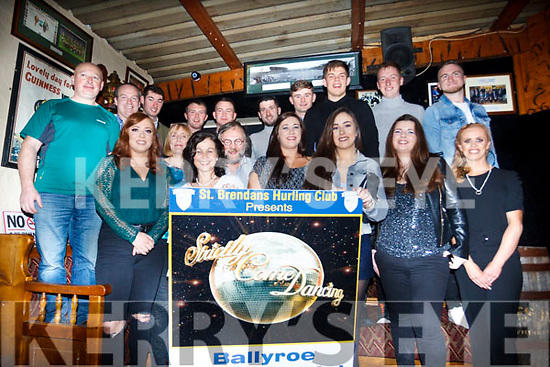 St Brendan's hurling club ready to step up as contestants launch their Strictly Come Dancing fund raiser in Kirbys Ardfert on Saturday last.