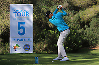 Adrian Meronk (POL) on the 5th tee during Round 3 of the Challenge Tour Grand Final 2019 at Club de Golf Alcanada, Port d'Alcúdia, Mallorca, Spain on Saturday 9th November 2019.<br /> Picture:  Thos Caffrey / Golffile<br /> <br /> All photo usage must carry mandatory copyright credit (© Golffile | Thos Caffrey)