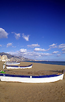 Southern Coast, Costa del Sol, colorful boats, Fuengirola, Spain