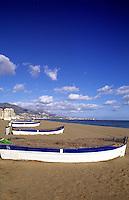 Southern Coast, Costa del Sol, colorful boats, Fuengirola, Spain