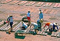 Construção de casas em mutirão, Socorro, São Paulo. 1990. Foto de Juca Martins.
