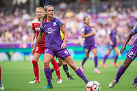 Orlando, FL - Saturday April 22, 2017: Dani Weatherholt during a regular season National Women's Soccer League (NWSL) match between the Orlando Pride and the Washington Spirit at Orlando City Stadium.