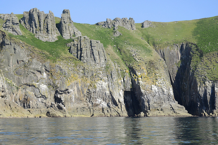 Coastal cliffs on the west side of Lundy, Devon