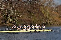 001 MBC Molesey. Wallingford Head of the River. Sunday 27 November 2011. 4250 metres upstream on the Thames from Moulsford railway bridge to Oxford Universitiy's Fleming Boathouse in Wallingford. Event run by Wallingford Rowing Club..