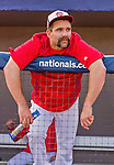 5 March 2015: Washington Nationals infielder Danny Espinosa watches from the dugout prior to a Spring Training game against the New York Mets at Space Coast Stadium in Viera, Florida. The Nationals rallied to defeat the Mets 5-4 in their Grapefruit League home opening game. Mandatory Credit: Ed Wolfstein Photo *** RAW (NEF) Image File Available ***