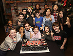 Justin Collette witrh Young cast members attend the 'School of Rock' Celebrates Two Years on Broadway at the Brazen Tavern in New York City.