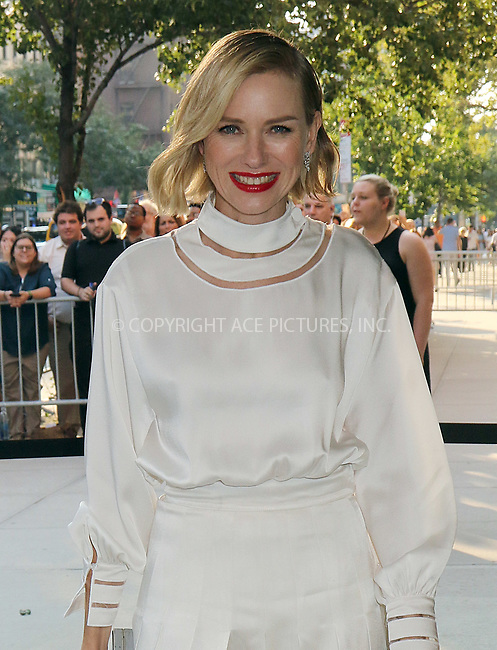 www.acepixs.com<br /> <br /> August 9 2017, New York City<br /> <br /> Actress Naomi Watts arriving at a screening of 'The Glass Tower' on August 9 2017 in New York City<br /> <br /> By Line: Philip Vaughan/ACE Pictures<br /> <br /> <br /> ACE Pictures Inc<br /> Tel: 6467670430<br /> Email: info@acepixs.com<br /> www.acepixs.com