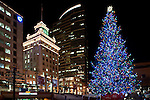 The Christmas Tree in Pioneer Square, Portland, Oregon.