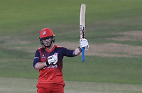 Alex Davies of Lancashire celebrates scoring fifty runs during Lancashire Lightning vs Essex Eagles, Vitality Blast T20 Cricket at the Emirates Riverside on 4th September 2019