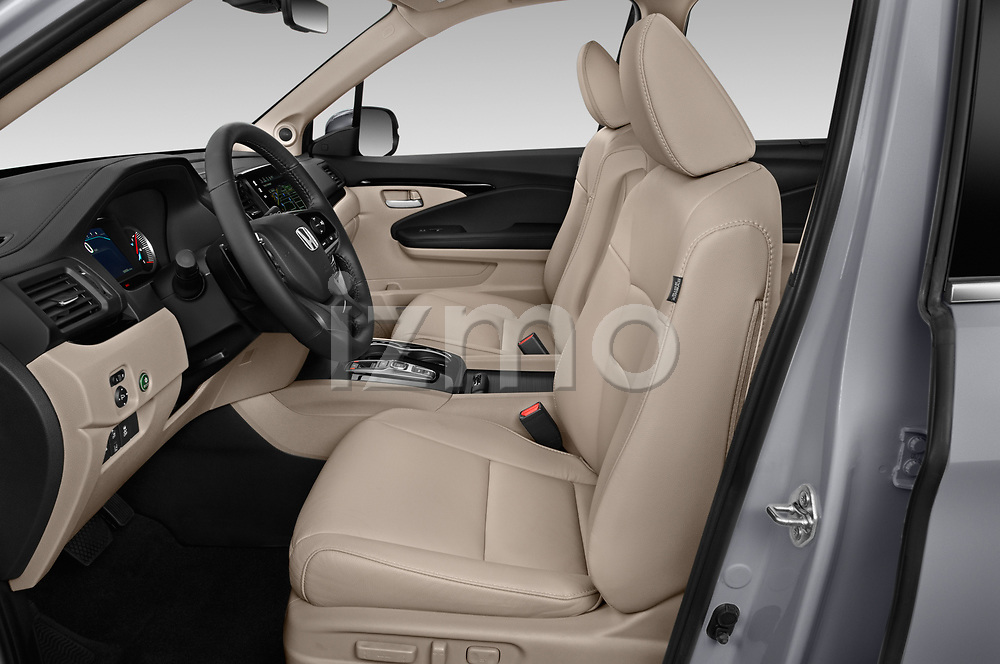 Front seat view of a 2020 Honda Pilot Touring 5 Door SUV front seat car photos