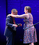 P. Carl and Sarah Ruhl on stage during the 9th Annual LILLY Awards at the Minetta Lane Theatre on May 21,2018 in New York City.