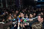 BILBAO. ESPAÑA. POLITICA.<br /> Manifestación pro derechos de los presos vascos; a 04/01/2014.<br /> En la imagen :<br /> Hasier Arraitz (Sortu)