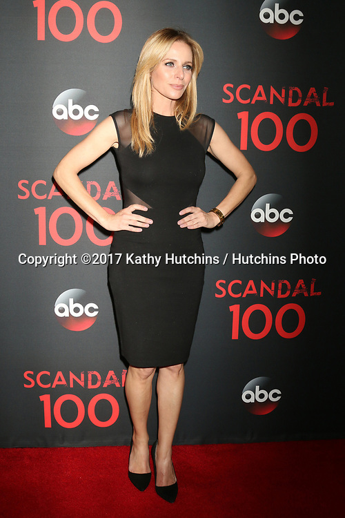 """LOS ANGELES - APR 8:  Jessalyn Gilsig at the """"Scandal"""" 100th Show Party at Fig & Olive Resturant on April 8, 2017 in West Hollywood, CA"""