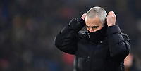 Manchester United manager Jose Mourinho adjust his snood<br /> <br /> Photographer Chris Vaughan/CameraSport<br /> <br /> The EFL Cup Semi-Final Second Leg - Hull City v Manchester United - Thursday 26 January 2017 - KCOM Stadium - Hull<br />  <br /> World Copyright © 2017 CameraSport. All rights reserved. 43 Linden Ave. Countesthorpe. Leicester. England. LE8 5PG - Tel: +44 (0) 116 277 4147 - admin@camerasport.com - www.camerasport.com