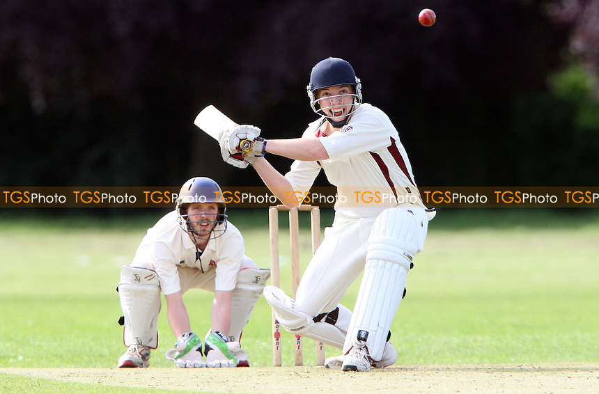 Andy Impey of Rayleigh in batting action - Rainham Cricket Club vs Rayleigh Cricket Club 2nd XI, Essex Club Cricket at Spring Farm Park, Rainham, Essex - 30/06/12 - MANDATORY CREDIT: Rob Newell/TGSPHOTO - Self billing applies where appropriate - 0845 094 6026 - contact@tgsphoto.co.uk - NO UNPAID USE..