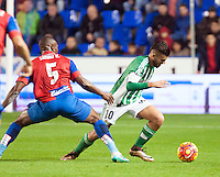 Levante UD's  Simao MJ and Real Betis Balompie's Dani Ceballos during La Liga match. November 27, 2015. (ALTERPHOTOS/Javier Comos)