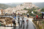 Action from Stage 3 of Il Giro di Sicilia running 186km from Caltanissetta to Ragusa, Italy. 5th April 2019.<br /> Picture: LaPresse/Fabio Ferrari | Cyclefile<br /> <br /> <br /> All photos usage must carry mandatory copyright credit (&copy; Cyclefile | LaPresse/Fabio Ferrari)