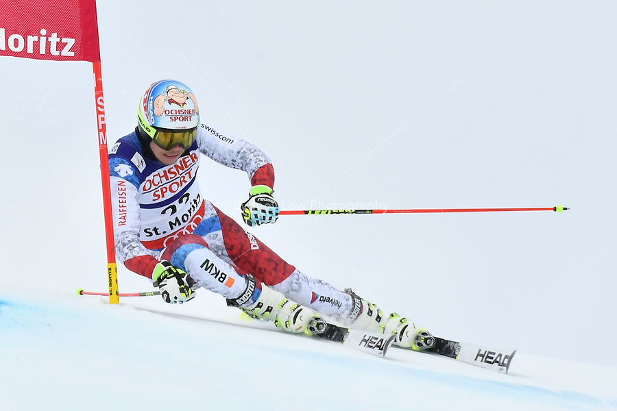 February 17, 2017: Gino CAVIEZEL (SUI) competing in the men's giant slalom event at the FIS Alpine World Ski Championships at St Moritz, Switzerland. Photo Sydney Low
