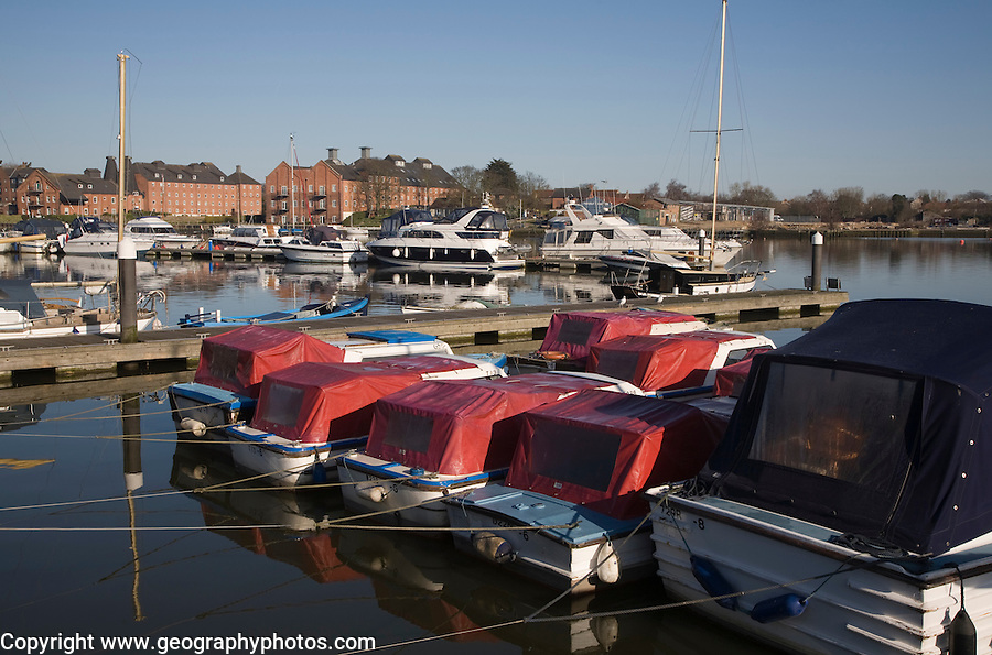 Pleasure craft boats at Oulton Broad, Suffolk, England