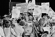 "July 1972, Miami, Florida, USA. The American feminist, social activist and writer, Betty Friedan surrounded by supporters for Frances ""Sissy"" Farenthold, the nominee for Vice Presidential candidate. Image by © JP Laffont"